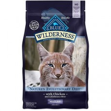Blue Buffalo Blue Wilderness Grain-Free Mature Chicken Recipe Dry Cat Food, 5 lbs.