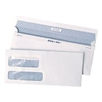 "Staples Reveal-n-Seal Self-Sealing Security Tinted Double Window #9 Envelopes, 3 7/8"" x 8 7/8"", White, 500/Bx"