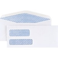 Staples #10 Envelope Double Window Security-Tint Gummed Envelopes, 500/Box