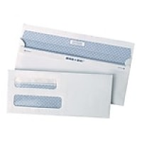 "Staples Reveal-n-Seal Self-Sealing Security Tinted Double Window #8 5/8 Envelopes, 3 5/8"" x 8 5/8"", White, 500/Bx"
