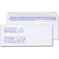 Staples Laser Check Size Double-Window Security-Tint Gummed Envelopes, 1,000/Box (381898/17046)