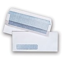 "Staples Self Seal Security Tinted Business Envelope, 4 1/8"" x 9 1/2"", White Wove, 500/Box (511290/99297)"