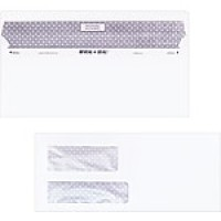 "Staples Reveal-n-Seal Self-Sealing Security Tinted Double Window #10 Envelopes, 4 1/8"" x 9 1/2"", White, 500/Bx"