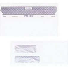 """Staples Reveal-n-Seal Self-Sealing Security Tinted Double Window #10 Envelopes, 4 1/8"""" x 9 1/2"""", White, 500/Bx"""