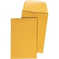 "Staples® #7, 3-1/2"" x 6-1/2"" Brown Kraft Coin Envelopes with Gummed Closure, 500/Box"