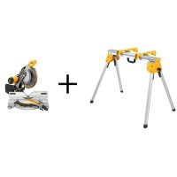 DEWALT 15 Amp 12 in. Double-Bevel Compound Miter Saw with Heavy-Duty Stand