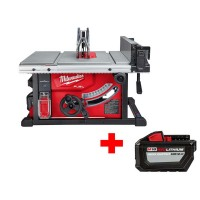 Milwaukee M18 FUEL ONE-KEY 18-Volt Lithium-Ion Brushless Cordless 8-1/4 in. Table Saw Kit with Free High Output 12.0Ah Battery