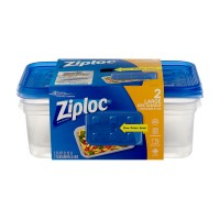 Ziploc Containers & Lids Rectangle Large 72 oz ea