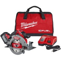 Milwaukee M18 FUEL 18-Volt Lithium-Ion Brushless Cordless 7-1/4 in. Circular Saw Kit with (1) 12.0Ah Battery, Charger, Tool Bag