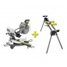 Ryobi 15 Amp Corded 10 in. Sliding Miter Saw with Stand