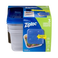 Ziploc One Press Seal Containers & Lids Medium Square 40 oz
