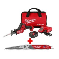 Milwaukee M18 FUEL 18-Volt Lithium-Ion Brushless Cordless HACKZALL Reciprocating Saw Kit with Carbide Teeth AX SAWZALL Blade