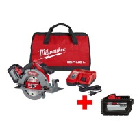 Milwaukee M18 FUEL 18-Volt Lithium-Ion Brushless Cordless 7-1/4 in. Circular Saw Kit W/ Free High Output 12.0Ah Battery