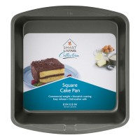 Smart Living Cake Pan Square Non-Stick 8 X 8 Inch