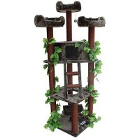 "Kitty Mansions Redwood Cat Tree, 75"" H"