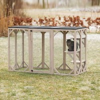 "Trixie Wooden Cattery For Cats, 44"" H"