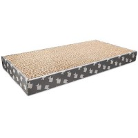 You & Me Refillable Cardboard Doublewide Cat Scratcher with Catnip