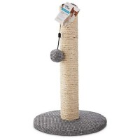 "You & Me Sisal Cat Scratching Post, Grey, 18.75"" H"
