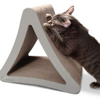 PetFusion 3-Sided Warm Gray Vertical Scratcher, Large, 21.1""