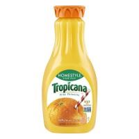 Tropicana 100% Pure Orange Juice Homestyle Some Pulp Non-GMO