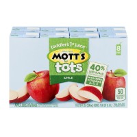 Mott's for Tots Apple Juice Boxes & Purified Water 40% Less Sugar - 8 pk