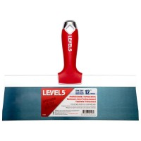 Level 5 12 in. Blue Steel Taping Knife with Soft Grip