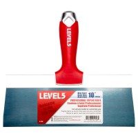 Level 5 10 in. Blue Steel Taping Knife with Soft Grip