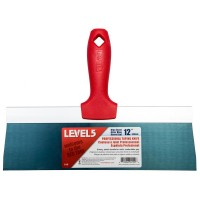 Level 5 12 in. Blue Steel Taping Knife with Plastic Handle