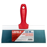 Level 5 10 in. Blue Steel Taping Knife with Plastic Handle