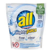 all Mighty Pacs Laundry Detergent Free Clear