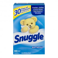 Snuggle Fabric Softener Sheets with Fresh Release Blue Sparkle