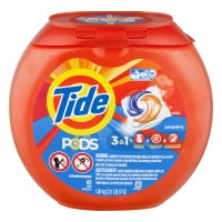 Tide PODS Laundry Detergent + Stain Remover + Brightener Original Scent