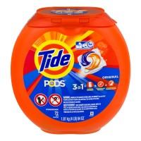 Tide PODS Detergent + Stain Remover + Brightener Original Scent