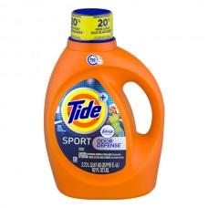 Tide + Sport Liquid Laundry Detergent Febreze Freshness Odor Defense