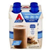 Atkins Milk Chocolate Delight Shake RTD - 4 pk