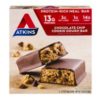Atkins Meal Bars Chocolate Chip Cookie Dough - 5 ct