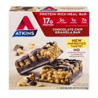 Atkins Granola Meal Bar Chocolate Chip - 5 ct