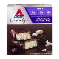 Atkins Endulge Bars Chocolate Coconut - 5 ct