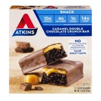 Atkins Snack Bars Caramel Double Chocolate Crunch - 5 ct