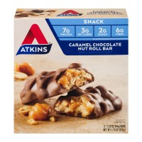 Atkins Snack Bars Caramel Chocolate Nut Roll - 5 ct