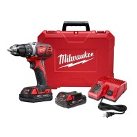 Milwaukee M18 18-Volt Lithium-Ion Cordless 1/2 in. Drill Driver Kit w/ (2) 1.5Ah Batteries, Charger, Hard Case