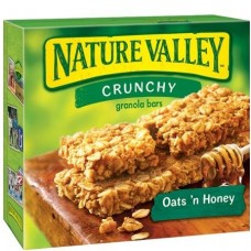 Nature Valley Crunchy Granola Bars Oats 'n Honey 100% Natural - 6 pk