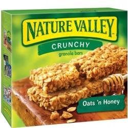Nature Valley Crunchy Granola Bars Oats 'n Honey 100% Natural - 6 pk