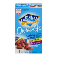Blue Diamond 100 Calories Pack Almonds Lightly Salted Low Sodium - 7 pk