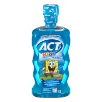 ACT Kids Anticavity Fluoride Rinse SpongeBob SquarePants Ocean Berry