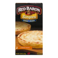 Red Baron Singles Pizza Cheese Deep Dish - 2 ct Frozen