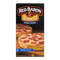 Red Baron Singles Pizza Pepperoni Deep Dish - 2 ct Frozen