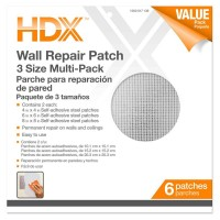 HDX 4, 6, 8 in. Multi Pro-Pack Drywall Repair Patches