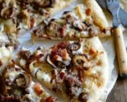 Anthony Francos Bacon Cheese Burger Pizza
