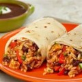 Black Bean Burrito and Black Bean Enchilada